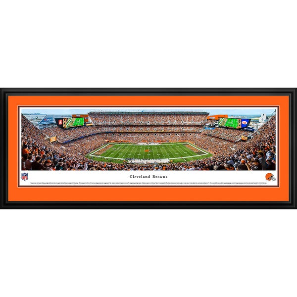 Blakeway Panoramas Cleveland Browns 50 Yard Line Framed NFL Print