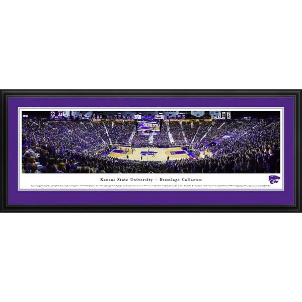 Blakeway Panoramas Kansas State Wildcats Basketball Framed Print