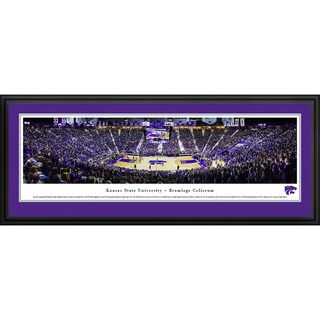 Blakeway Panoramas Kansas State Wildcats Basketball Framed Print (3 options available)