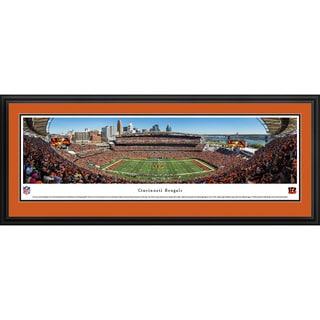 Blakeway Worldwide Panoramas Cincinnati Bengals 50-yard Line Framed NFL Print