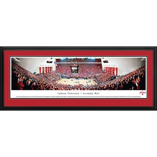 Blakeway Worldwide Panoramas Indiana Hooisers Basketball Framed Print
