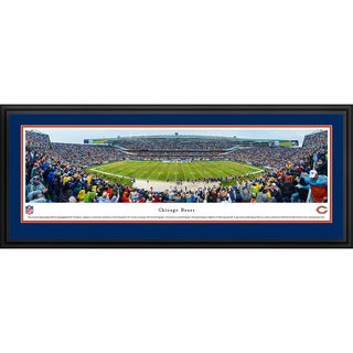 Blakeway Panoramas Chicago Bears 50 Yard Line Framed NFL Print