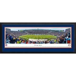 Blakeway Panoramas Chicago Bears 50 Yard Line Framed NFL Print