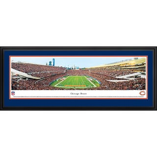 Blakeway Panoramas NFL Chicago Bears End Zone Framed Print
