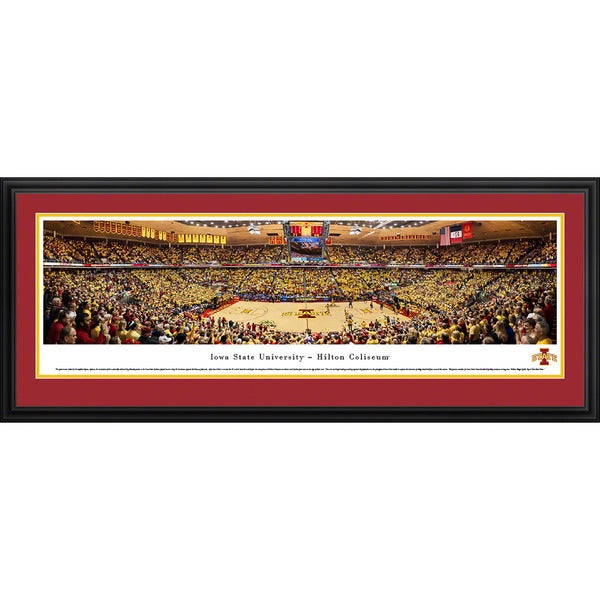 Blakeway Panoramas Christopher Gjevre 'Iowa State Basketball' Framed Print