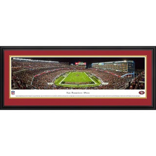 Blakeway Panoramas NFL San Francisco 49ers 'Levi's Stadium Night Game' Framed Print