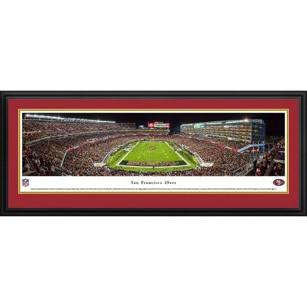 Blakeway Panoramas NFL San Francisco 49ers 'Levi's Stadium Night Game' Framed Print