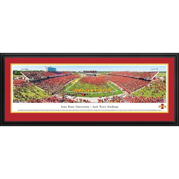 Blakeway Panoramas Iowa State Football 'End Zone Celebration' Framed Print