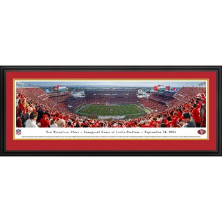 Blakeway Panoramas San Francisco 49ers Inaugural Game at Levi's Stadium Framed NFL Print