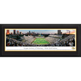 Blakeway Panoramas Georgia Tech Football 'End Zone' Framed Print