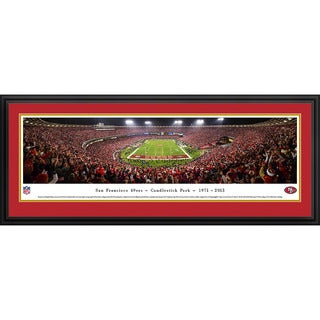 Blakeway Panoramas NFL San Francisco 49ers 'Final Game at Candlestick Park' Framed Print