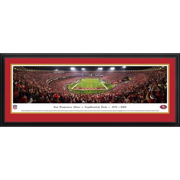 Blakeway Panoramas NFL San Francisco 49ers at Candlestick Framed Print