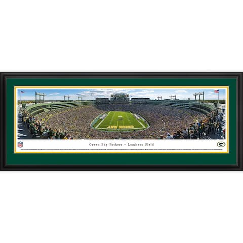 Blakeway Panoramas Green Bay Packers Framed Print