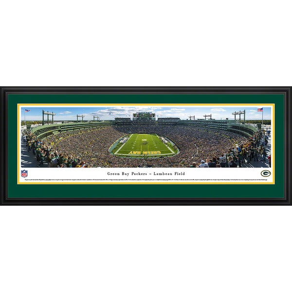 Blakeway Panoramas Green Bay Packers 'End Zone at Lambeau Field' Framed NFL Print