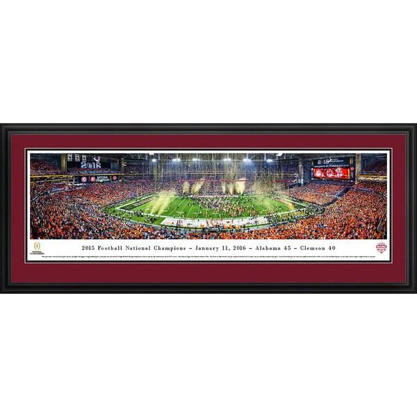 Blakeway Panoramas 2015 College Football Champions 'Alabama' Framed Print