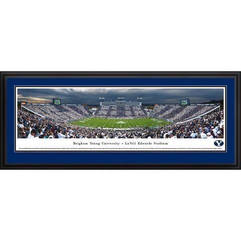Blakeway Panoramas BYU Cougars Football Framed Print