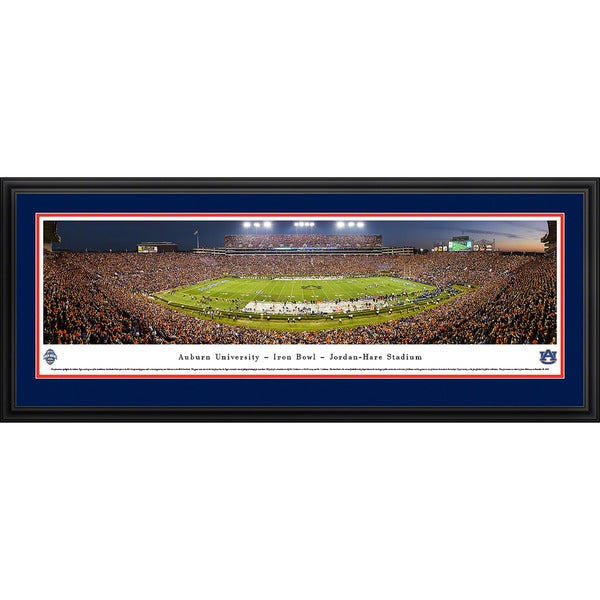 Blakeway Panoramas 'Auburn Football 50-Yard Line' Framed Print