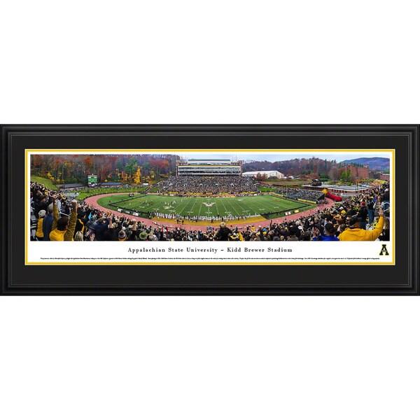 Blakeway Panoramas Appalachian State Mountaineers '50 Yard Line' Framed Print