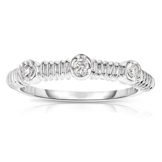 Noray Designs 14k Gold 1/8ct TDW Diamond Stackable Ring - White G-H