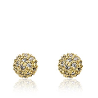 Riccova Retro 14K Gold-plated Cubic Zirconia Pave Ball Earring
