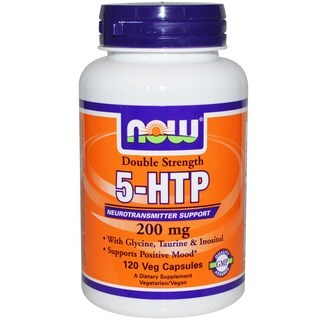 Now Foods 5-HTP Double Strength 200-milligram Veg Capsules (120 Count)