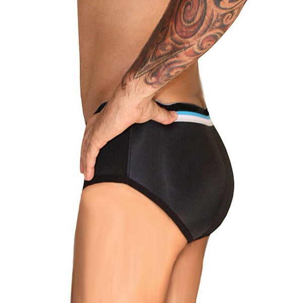 dfbf1720b662 Shop Men's Butt Booster Black Polyester/Spandex Padded Brief Enhancer -  Free Shipping On Orders Over $45 - Overstock - 12492524