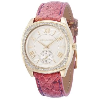 Michael Kors Women's MK2387 'Bryn' Crystal Pink Leather Watch