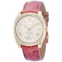 Michael Kors Women's MK2387 'Bryn' Crystal Pink Leather Watch