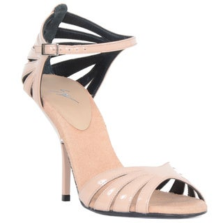 Giuseppe Zanotti Strappy Pink Open Toe Heel Sandal (As Is Item)