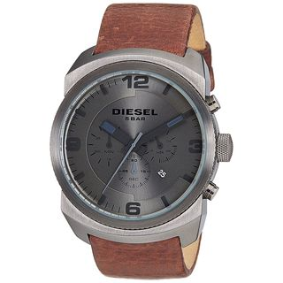 Diesel Men's DZ4256 'Advanced' Chronograph Brown Leather Watch