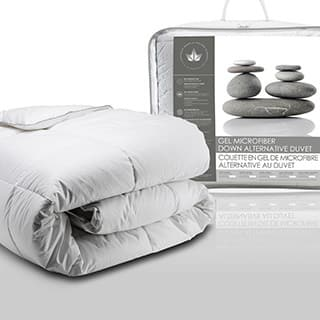 Canadian Down Feather Gel Microfiber Alternative Comforter