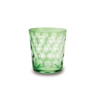 Impulse Melrose Rocks Green Low-ball Glasses (Set of 6)
