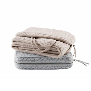 Madison Park Signature Cashmere Blend Travel Throw Set 2-Color Option