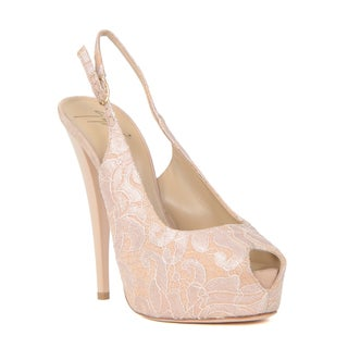 Giuseppe Zanotti Heel Sandal Size 40 in Nude (As Is Item)
