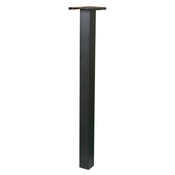 "Solar Group BP000B01 52.3"" Black Aluminum Mailbox Post"