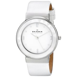 Skagen Women's SKW2220 'Leonora' White Leather Watch