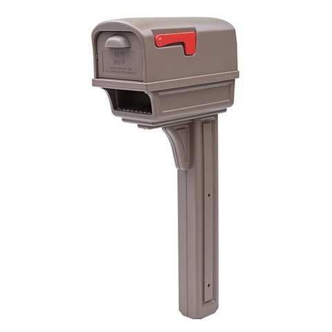 Solar Group GC1M Mocha All-In-One Mailbox & Post Combo