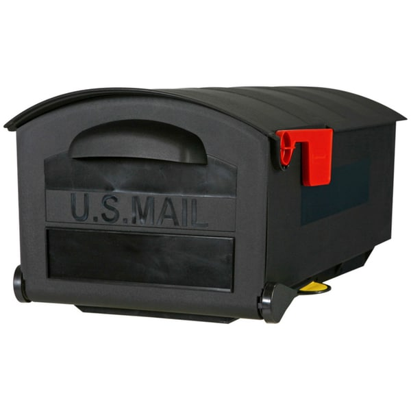 Shop Solar Group Mb515b01 21 Quot Black Polymer Post Mount Mailbox Free Shipping Today Overstock 12493374