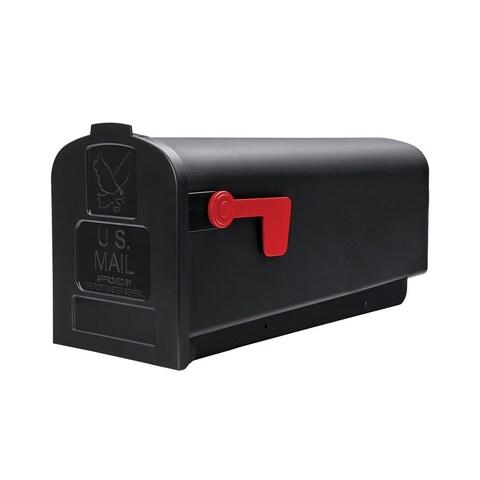 Solar Group PL10B Plastic Rural Black Mailbox