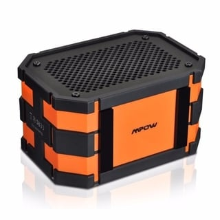 Mpow Armor Black and Orange Waterproof Portable Bluetooth Speaker