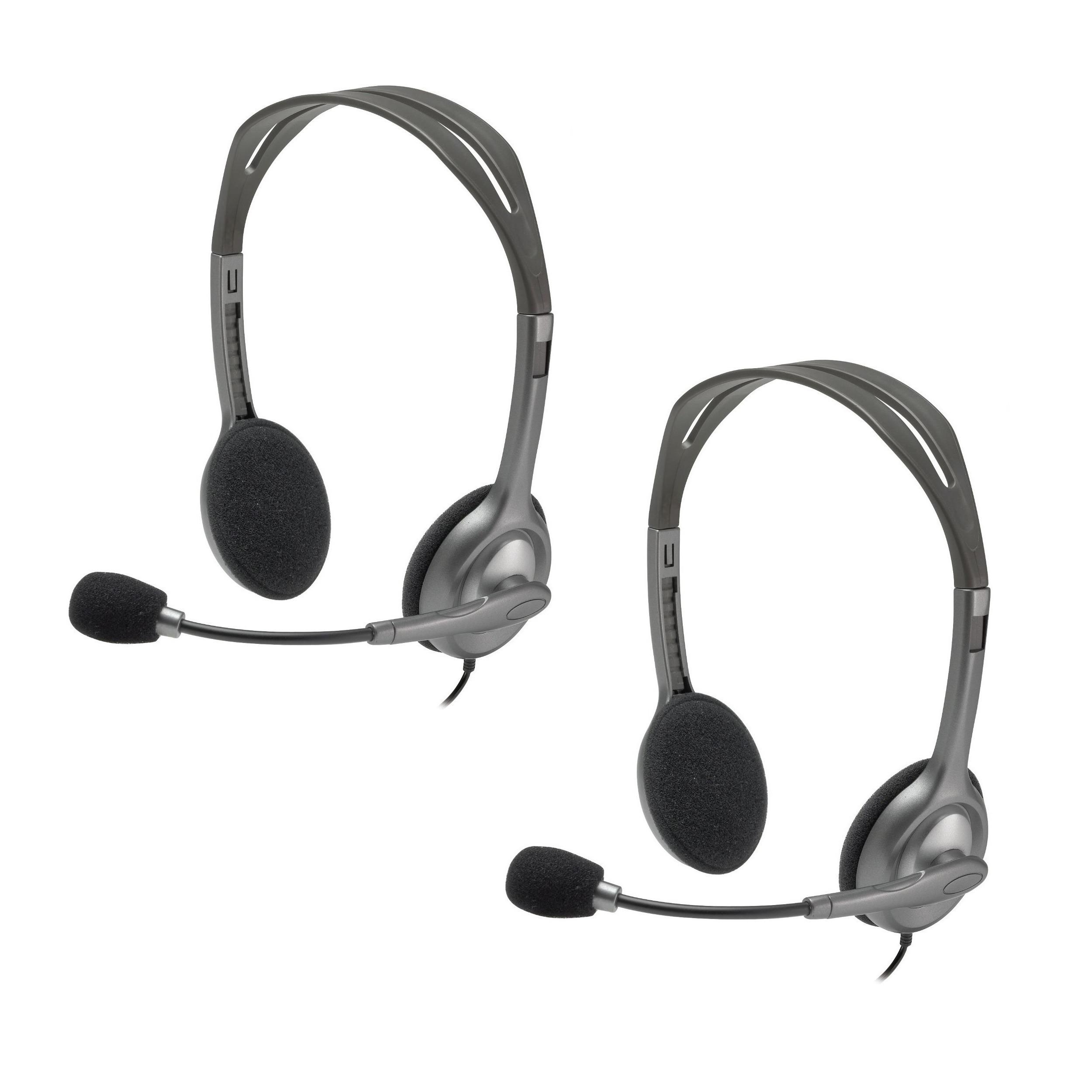 Logitech H111 Stereo Headset Bulk Package (Pack of 2) (Pa...