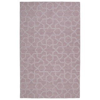 Trends Lilac Geo Wool Rug (8'0 x 11'0)