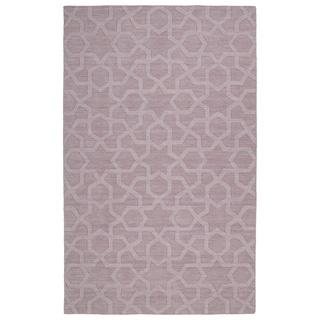 Trends Lilac Geo Wool Rug (8' x 11')