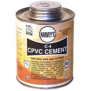 WM Harvey 018700-24 1/4 Pint Orange C-4 Regular Bodied CPVC Cement