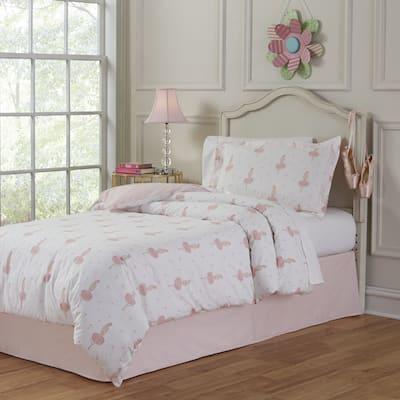 Lullaby Bedding Ballerina Cotton 3-piece Duvet Set