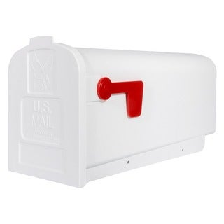 Solar Group PL10W Plastic Rural White Mailbox