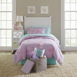 Lullaby Bedding Butterfly Garden Printed Cotton 3-piece Duvet Set