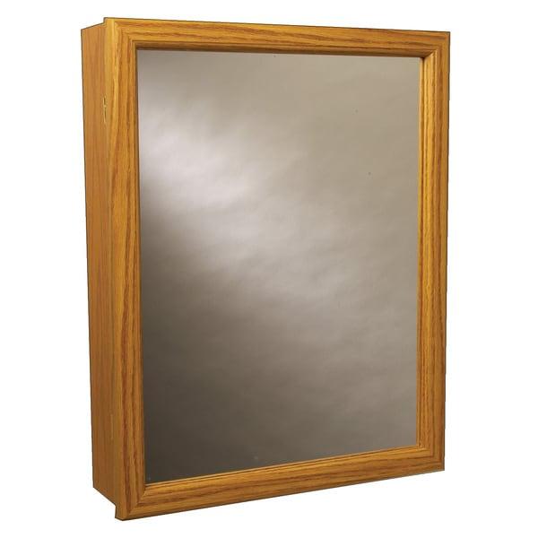 Shop Zenith K16 Oak Framed Swing Door Medicine Cabinet