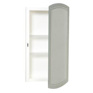 "Zenith MM1029 16"" X 28.25"" X 4.5"" White Frameless Medicine Cabinet"