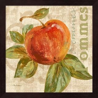 Pamela Gladding 'Rustic Fruit I' Brown Wood Frame Wall Art
